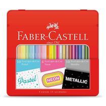Lapis de cor 10 pastel + 4 neon + 10 metallic - KIT/CORES - Faber-Castell -