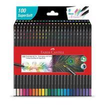 Lapis de cor 100 cores supersoft faber castell -