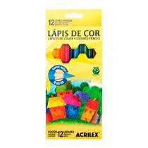 Lapis de Cor 12 Cores 4mm 09692 - Acrilex Tintas