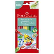 Lápis de cor 12 cores - aquarelável - 120212G - Faber-Castell -
