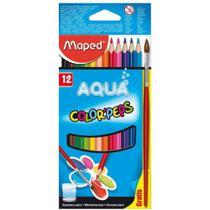Lapis de Cor 12 Cores Color Peps Aquarelável + Pincel - Maped -