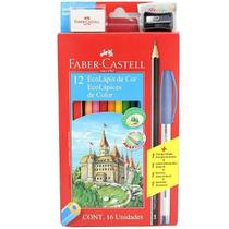 Lapis De Cor 12 Cores Ecolapis Faber Castell -