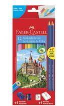 Lapis de cor 12 cores faber-castell kit 120112+2n - Faber Castell