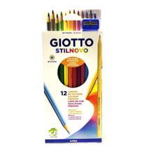 Lapis de cor 12 cores giotto stilnovo acompanha 1 lapis preto + 1 apontador -