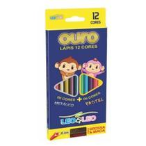 Lapis de cor 12 cores leonora metalico pastel -