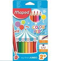 Lapis de cor 12 cores maxi jumbo colorpeps - maped -
