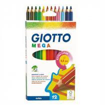 Lápis de Cor 12 Cores Mega Giotto -