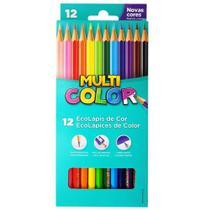 Lápis de Cor 12 Cores Multicolor -