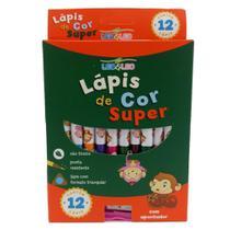 Lapis de Cor 12 Cores Super Jumbo Leo Leo - Leo&Leo