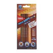 Lápis de Cor 12 Cores Tons de Pele Mega Soft TRIS - Summit