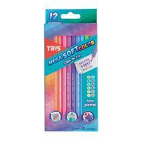 Lapis De Cor 12 Cores Tons Pastel Tris -