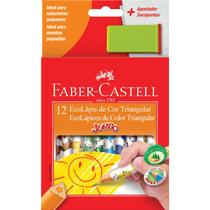 Lapis De Cor 12 Cores Triangular Faber Castell -
