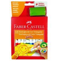 Lápis De Cor 12 Cores Triangular Jumbo Faber Castell -