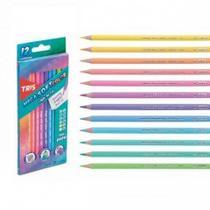 Lapis de Cor 12 Cores TRIS Mega Soft Color Tons Pasteis -