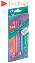 Lapis De Cor 12 Cores Tris Mega Soft Color - Tons Pastel -