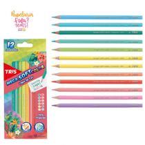 Lapis de Cor 12 Cores TRIS Mega Soft Color Tons Tropicais -