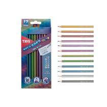 Lapis De Cor 12 Cores TRIS Tons Metalicos Mega Soft Color -