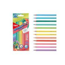 Lapis De Cor 12 Cores TRIS Tons Tropicais Mega Soft Color -