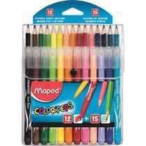 Lapis De Cor 15 Cores + 12 Canetinhas Color Peps Maped -