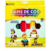 Lápis de Cor 24 Cores 09694 Acrilex -