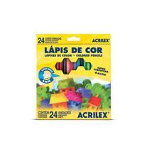 Lapis de Cor 24 Cores 4mm 09694 - Acrilex Tintas