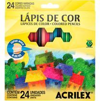 Lápis de Cor 24 Cores 9624/ 9694-Acrilex -