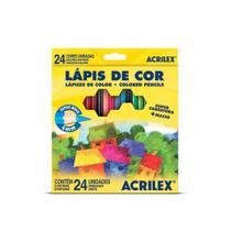 Lápis de cor 24 cores acrilex -