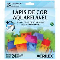 Lápis de Cor 24 Cores Aquarelável 09654 Acrilex -