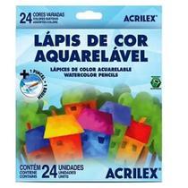 Lápis de cor 24 cores AQUARELÁVEL Acrilex -