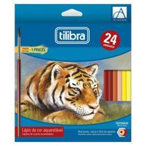Lápis de cor 24 cores AQUARELÁVEL Tilibra -