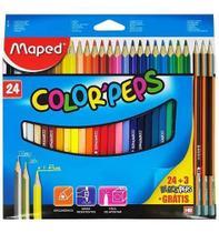 Lapis De Cor 24 Cores Colorpeps Maped +3 Lápis De Brinde -