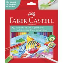 Lapis de Cor 24 Cores Ecolapis de Cor Aquarelavel 24 Lapis Faber Castell -