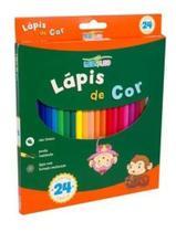 Lapis De Cor 24 Cores Escolar Sextavado Flex - Leonora -