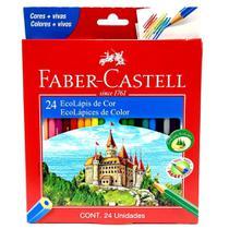 Lapis de cor 24 cores faber castell -