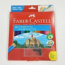 Lapis De Cor 24 Cores Faber Kit + 1 Apontador - Faber Castell