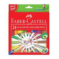 Lapis de cor 24 cores faber super ponta - Faber-Castell