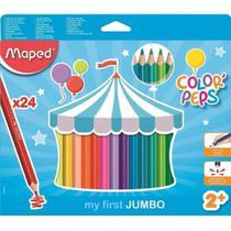 Lapis De Cor 24 Cores Jumbo Color Peps  834013 Maped -