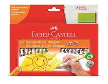Lapis de cor 24 cores jumbo faber castell -