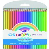Lapis de cor 24 cores tons pastel criatic cis - 60.0201 -