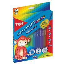 Lapis de Cor 24 Cores Triangular Tris Mega Soft -