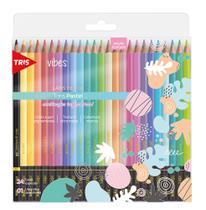Lápis de cor 24 cores  VibesTons Pastel ref.607719 - Tris -