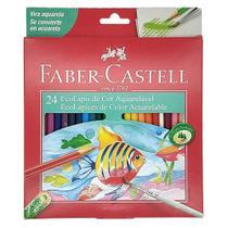 Lapis de cor 24cores aquarelavel faber castell - Faber-Castell -