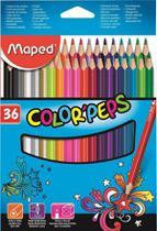 Lapis de cor 36 cores colorpeps - maped -
