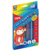 Lapis de Cor 36 Cores Triangular Tris Mega Soft -