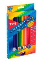 Lápis de Cor 36 Cores TRIS MEGA SOFT COLOR -