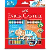 Lapis De Cor 48 Cores Bicolor 24 Lapis Faber Castell -