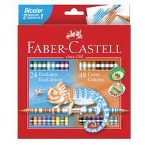 Lápis de Cor 48 Cores Bicolor Faber-castell - Faber castell -