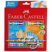 Lápis de Cor 48 Cores Bicolor Faber Castell -