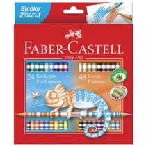 Lapis de Cor 48 Cores Bicolor Faber Castell -