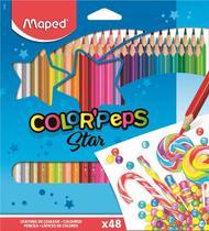 Lapis de cor 48 cores colorpeps - maped -